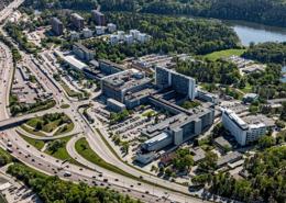 Danderyds sjukhus, flygbild